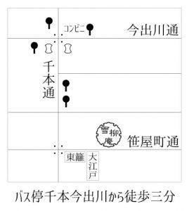 洋裁教室コモノ地図